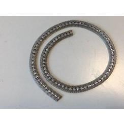 12341-4101 - Metalen band met Strass platinum 95x35mm 50CM -4101