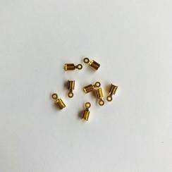 11808-1562 - Koordsluiting klein 5x3mm goudkleur 8st -1562
