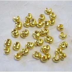 12221-2105 - Knijpkraal verberger goudkleur 5 mm 50 st -2105