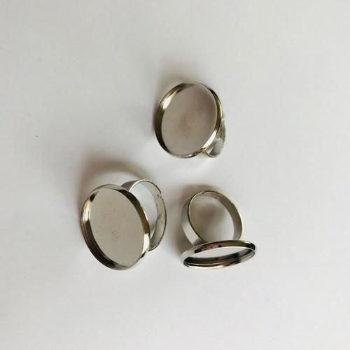 12332-3211 - Vinger ring 14mm Top (voor epoxy) 3 st -3211 (platinum)