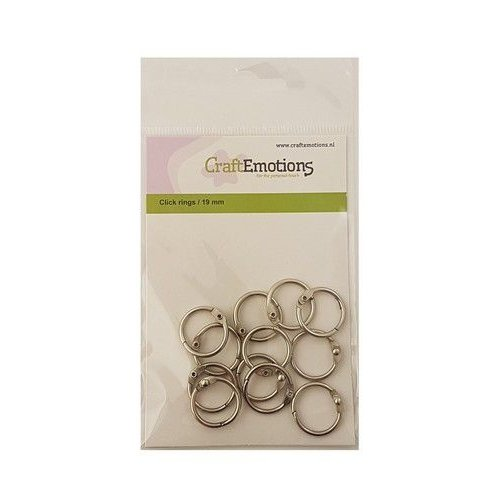 CraftEmotions 430603/3419 - CraftEmotions Klik ringen / boekbindersringen 19mm 12 st.