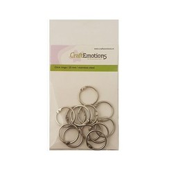 430603/3425 - CraftEmotions Klik ringen / boekbindersringen 25mm 12 st.