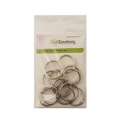 430603/3432 - CraftEmotions Klik ringen / boekbindersringen 32mm 12 st.