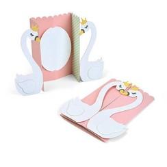 663617 - Sizzix Thinlits Die  set -  6PK Card Swan Fold-a-Long 7 Jen Long