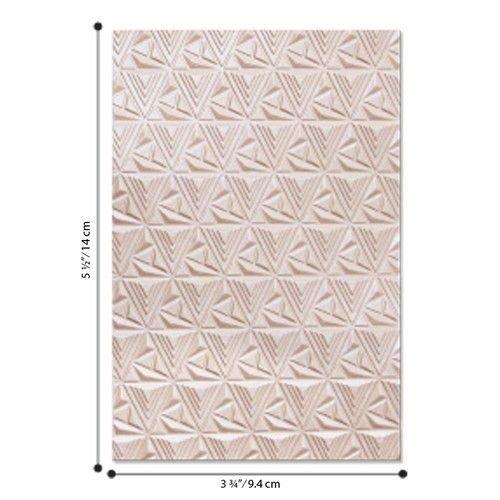Sizzix 664425 - Sizzix - 3-D Textured Impressions Emb. Folder Geometric Lattice 5 Jessica Scot