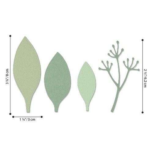 Sizzix 664444 - Sizzix Thinlits Die Set - 4PK Elegant Leaves 4 Jen Long