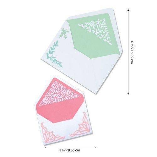 Sizzix 664446 - Sizzix Thinlits Die Set - Botanical Envelope Liners 6PK 6 Jen Long