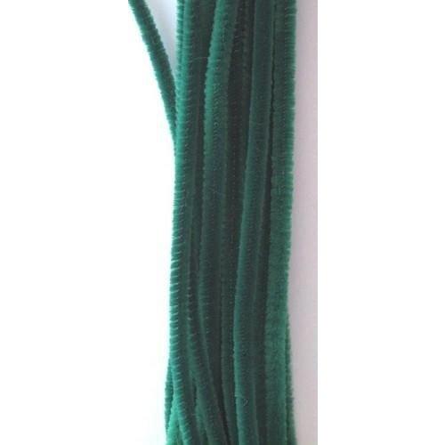 12271-7105 - Chenille groen 6mm x 30cm 20st