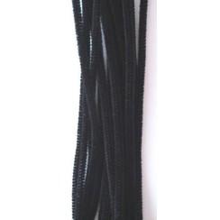 12271-7111 - Chenille zwart 6mm x 30cm 20st