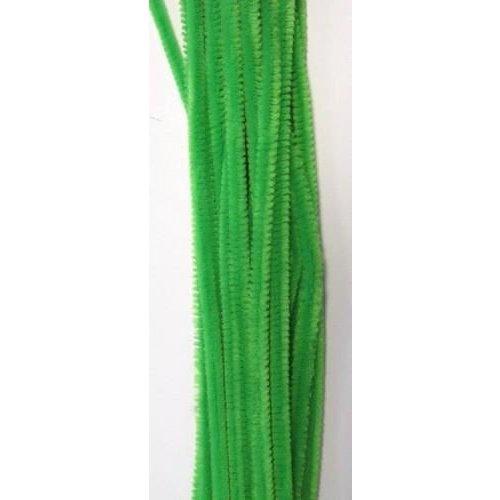 12271-7113 - Chenille lichtgroen 6mm x 30cm 20st
