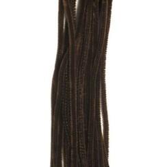 12271-7114 - Chenille donkerbruin 6mm x 30cm 20st