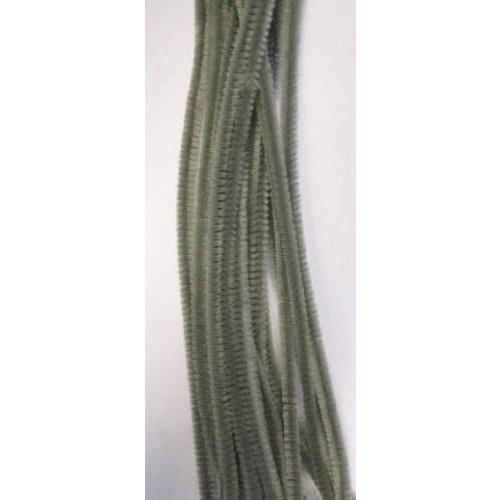 12271-7116 - Chenille grijs 6mm x 30 cm 20st