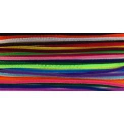 12271-7151 - Chenille draad set mix kleuren 26 ST  6mm x 30cm