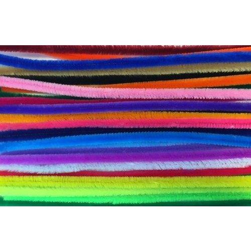 12271-7161 - Chenille draad set mix kleuren 26 ST  9mm x 30cm