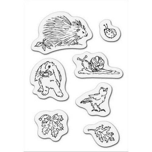 001883/3501 - Clear stamp Dieren uit de tuin 8 x 11cm