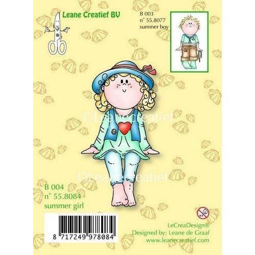 Leane Creatief 55.8084 - LeCrea - Clear stamp Bambinie Summer girl 84