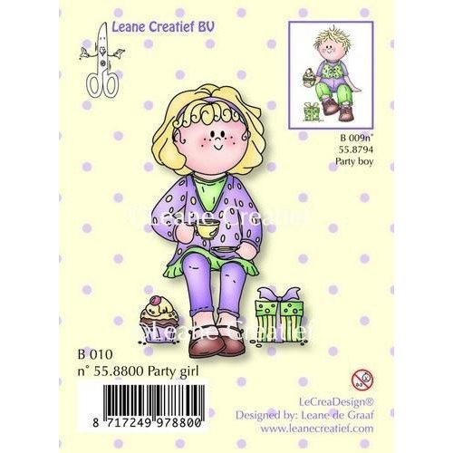 Leane Creatief 55.8800 - LeCrea - Clear stamp Bambinie party girl 00
