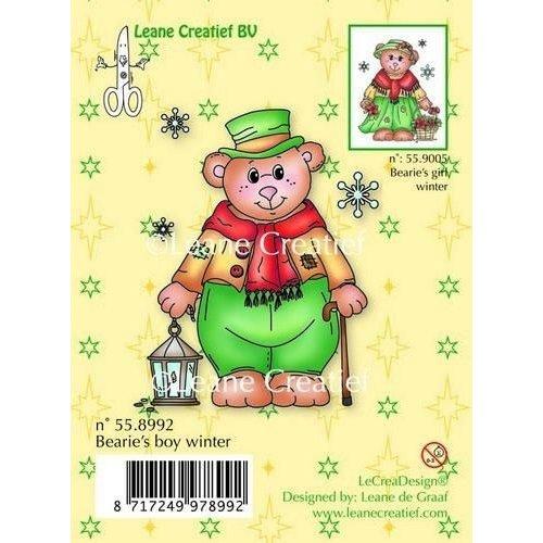 Leane Creatief 55.8992 - LeCrea - Clear stamp Bearie's boy winter 92