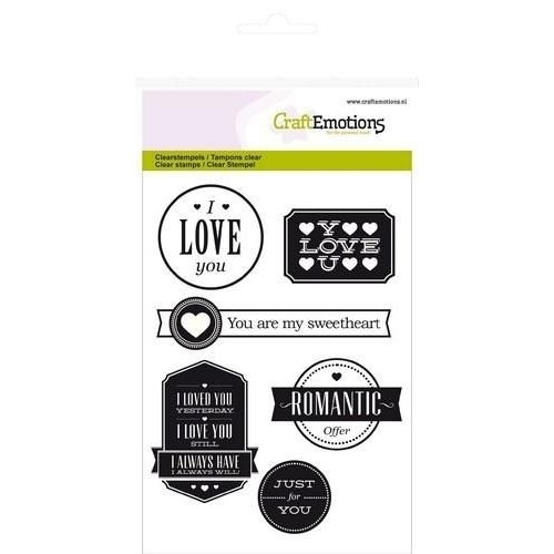 CraftEmotions CRE0068 - CraftEmotions clearstamps A6 - teksten Love (engels)