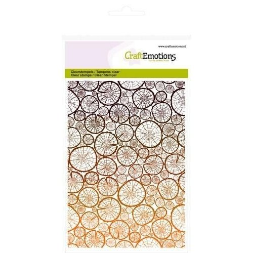 CraftEmotions CRE0069 - CraftEmotions clearstamps A6 - achtergrond boomstammetjes