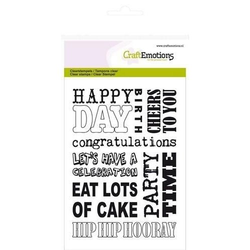 CraftEmotions CRE0076 - CraftEmotions clearstamps A6 - achtergrond party