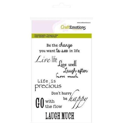 CraftEmotions CRE1119XX - CraftEmotions clearstamps A6 - spirituele teksten (UK)