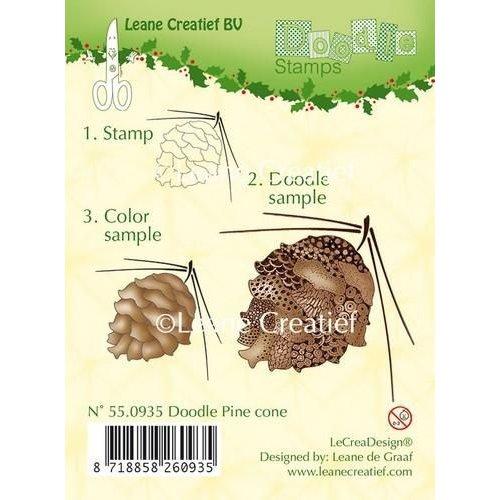 Leane Creatief 55.0935 - LeCrea - Doodle clear stamp Pine cone 35