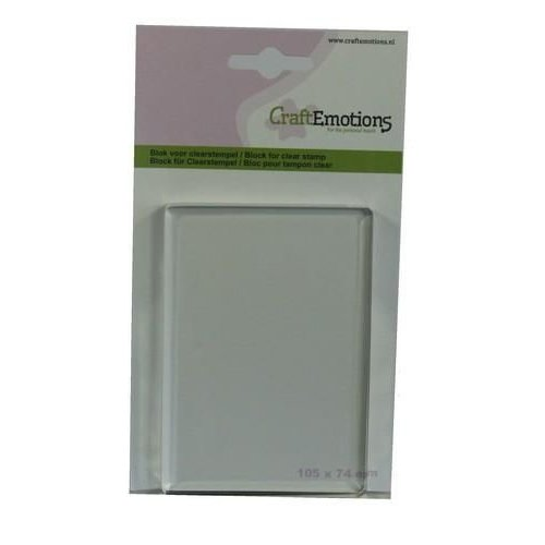 CraftEmotions 130501/1911 - CraftEmotions blok voor clearstempel 105x74mm - 8mm
