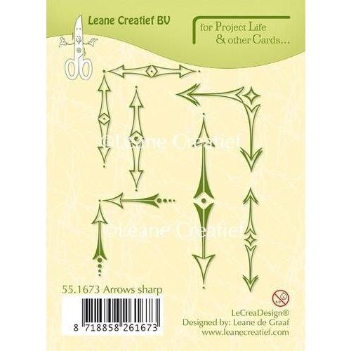 Leane Creatief 55.1673 - LeCrea - Project Life & Cards clear stamp Arrows sharp 73