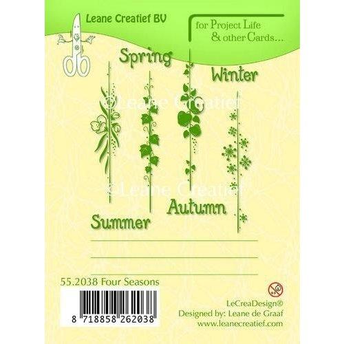 Leane Creatief 55.2038 - LeCrea - PL&Cards clear stamp Seasons English text 38