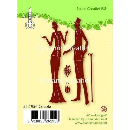 Leane Creatief 55.1956 - LeCrea - Clear stamp Couple 56