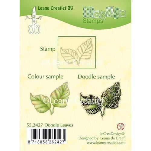 Leane Creatief 55.2427 - LeCrea - Doodle clear stamp Leaves 27