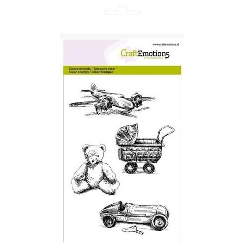 CraftEmotions CRE0129 - CraftEmotions clearstamps A6 - vintage kinderspeelgoed Lovely Baby
