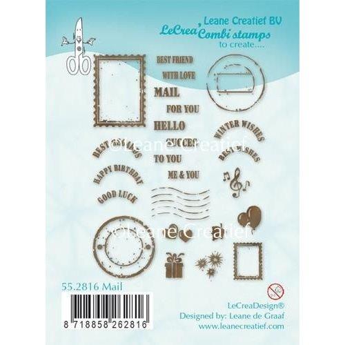 Leane Creatief 55.2816 - LeCrea - Clear stamp Mail 16