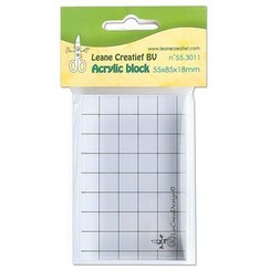 55.3011 - Acrylic clear stamp block 55x85x20mm