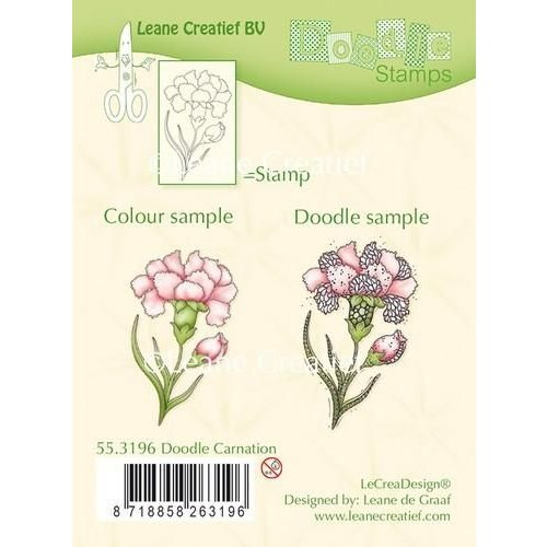 55.3196 - Doodle clear stamp Carnation