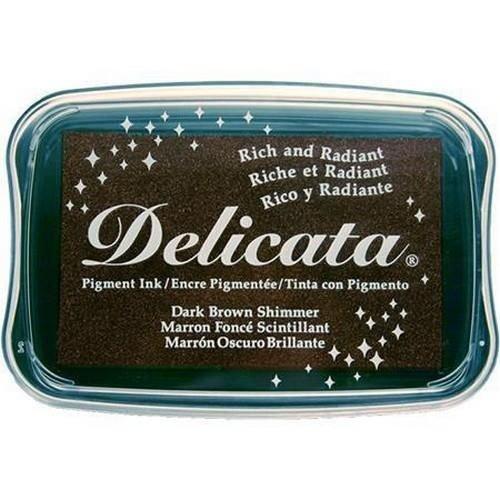 DE-000-354 - Delicata Dark Brown Shimmer Inkpad