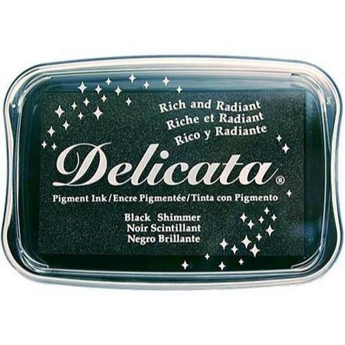 DE-000-382 - Delicata Black Shimmer Inkpad