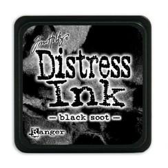 TDP39860 - Ranger Distress Mini Ink pad - black soot 860 Tim Holtz