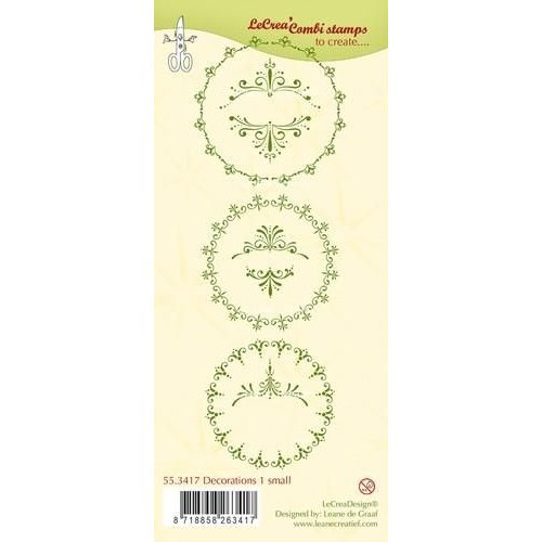 Leane Creatief 55.3417 - LeCrea - Clear stamp Decorations 1 small 17