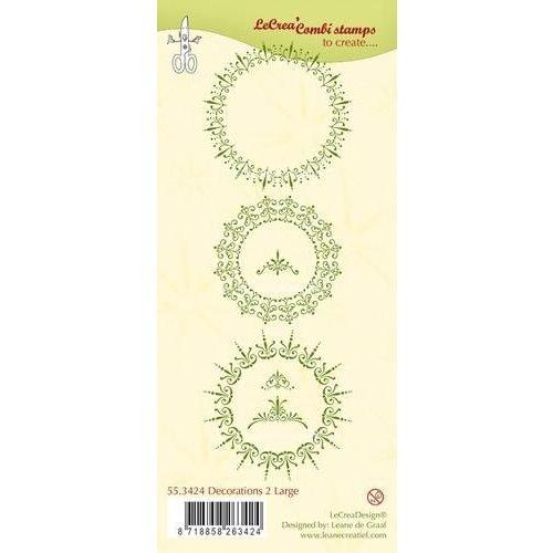 Leane Creatief 55.3424 - LeCrea - Clear stamp Decorations 2 large 24