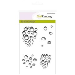 CRE0144 - CraftEmotions clearstamps A6 - waterdruppels