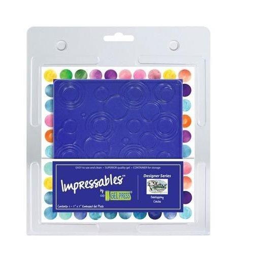 10815-SLM-01 - Gel Press Impressables - Overlapping circles -SLM-01   17,8x17,8cm