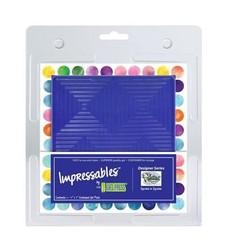10815-SLM-02 - Gel Press Impressables - Squares in Squares -SLM-02   17,8x17,8cm