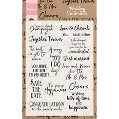 CS0999 - Clear Stamps Wedding sentiments (UK)