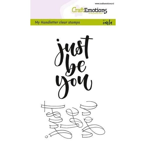 CraftEmotions CRE0187 - CraftEmotions clearstamps A6 -  handletter - just be you (Eng) Carla Kamphuis