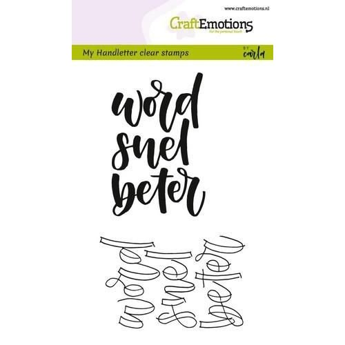 CraftEmotions CRE0193 - CraftEmotions clearstamps A6 - handletter - word snel beter (NL) Carla Kamphuis