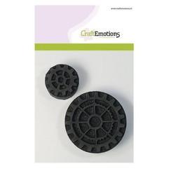 494.903.001 - CraftEmotions Foam stamps tandwiel groot en klein 2 65mm - 35mm