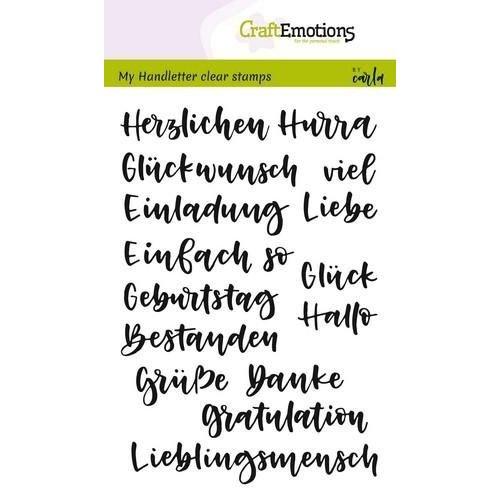 CraftEmotions CRE0214 - CraftEmotions clearstamps A6 - handletter - Wörter Verschieden (DE) Carla Kamphuis