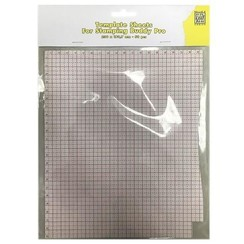 STBP001 - Template sheets 50 pcs/bloc 230x193,7mm for Stampingbuddy-Pro